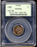 Proof Indian Cents: , 1909 1C PR65 Red and Brown PCGS. Watery surfaces are ...
