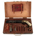 """Movie/TV Memorabilia:Props, Nicolas Cage """"John Milton"""" Signature """"Godkiller"""" Gun Prop With Case and Accessories from Drive Angry (Summit, 2011..."""
