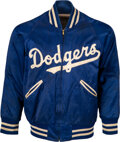 Baseball Collectibles:Uniforms, 1950's Roy Campanella Game Worn Brooklyn Dodgers Warm-Up Jacket, MEARS Authentic....