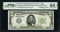 Changeover Pair Fr. 1956-H/Fr. 1957-H $5 1934 Mule/1934A Federal Reserve Notes. PMG Choice Uncirculated 64 EPQ. ... (Tot...