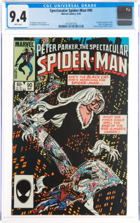 Spectacular Spider-Man #90 (Marvel, 1984) CGC NM 9.4 White pages