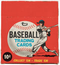 Baseball Cards:Unopened Packs/Display Boxes, 1967 Topps Baseball 10-Cent Empty Cello Display Box. ...