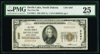 Devil's Lake, ND - $20 1929 Ty. 1 The First National Bank Ch. # 3397 PMG Very Fine 25