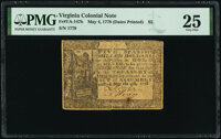 Virginia May 4, 1778 (Dates Printed) $5 PMG Very Fine 25