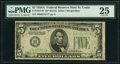 Fr. 1957-H* $5 1934A Federal Reserve Note. PMG Very Fine 25