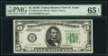 Small Size:Federal Reserve Notes, Fr. 1958-H $5 1934B Federal Reserve Note. PMG Gem Uncircul...