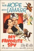 """Movie Posters:Comedy, My Favorite Spy (Paramount, 1951). Very Fine on Linen. One Sheet (27"""" X 41""""). Comedy.. ..."""