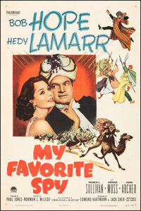 """My Favorite Spy (Paramount, 1951). Very Fine on Linen. One Sheet (27"""" X 41""""). Comedy"""