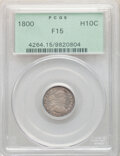 1800 H10C V-1, LM-1, R.3, Fine 15 PCGS. Housed in a green label holder. PCGS Population: (14/255). NGC Census: (3/133)...