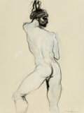 Works on Paper, Stephen Kelemen (American, 20th Century). Male Nude. Pencil and acrylic on paper. 12 x 9 inches (30.5 x 22.9 cm) (sheet)...