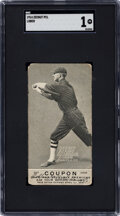 Baseball Cards:Singles (Pre-1930), 1914 E136 Zeenut Ty Lober (With Coupon) SGC Poor 1 - The Only Graded Example! ...