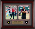 Golf Collectibles:Miscellaneous, Tiger Woods Grand Slam Pins Display. ...