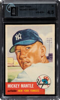 Baseball Cards:Singles (1950-1959), 1953 Topps Mickey Mantle #82 GAI VG-EX+ 4.5+. Offe...
