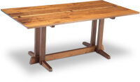 George Nakashima (American, 1905-1990) Frenchman's Cove Dining Table, 1973 Walnut, rosewood butterfl