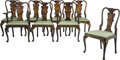 Furniture, An Eight-Piece Set of Queen Anne-Style Japanned Dining Chairs, 19th century. 37-3/4 x 24 x 21-1/2 inches (95.9 x 61.0 x 54.6... (Total: 8 Items)