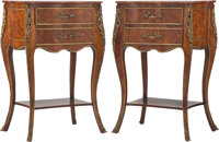 A Pair of Louis XVI-Style Gilt Bronze Mounted Petite Commodes 28 x 17 x 13-1/4 inches (71.1 x 43.2 x 33.7 cm) (each)...