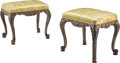 Furniture, A Pair of Louis XV-Style Silk Upholstered Benches. 21-1/4 x 24-1/2 x 18 inches (54.0 x 62.2 x 45.7 cm) (each). ... (Total: 2 Items)