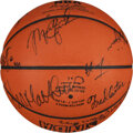 Basketball Collectibles:Balls, 1984-85 Chicago Bulls Team Signed Basketball -- Finest Known Exemplar!...