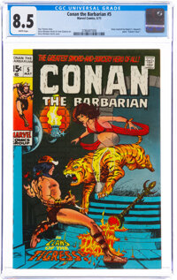 Conan the Barbarian #5 (Marvel, 1971) CGC VF+ 8.5 White pages