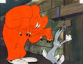 Animation Art:Production Cel, Hair-Raising Hare Bugs Bunny and Gossamer Production Cel (Warner Brothers, 1946). ...