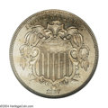 Proof Shield Nickels: , 1867 5C Rays PR64 NGC. Obverse 1, State I. Reverse A, ...