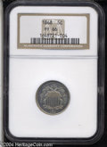 Proof Shield Nickels: , 1868 5C PR66 NGC. Mostly brilliant with nice, reflective ...