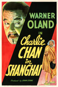"""Movie Posters:Mystery, Charlie Chan in Shanghai (Fox, 1935). Fine- on Linen. One Sheet (27"""" X 41"""").. ..."""