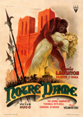 """Movie Posters:Horror, The Hunchback of Notre Dame (RKO, 1946). Very Good on Linen. First Post-War Release Italian 2 - Fogli (39"""" X 55"""") Ans..."""