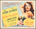 """Movie Posters:Musical, You Were Never Lovelier (Columbia, 1942). Very Fine-. Title Lobby Card (11"""" X 14""""). Musical.. ..."""
