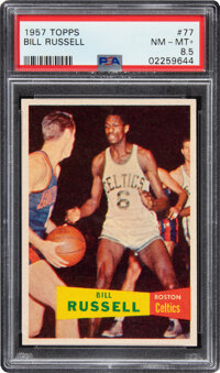 1957 Topps Bill Russell Rookie #77 PSA NM-MT+ 8.5