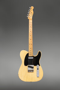 1950 Fender Broadcaster Butterscotch Blonde Solid Body Electric Guitar, Serial #0235