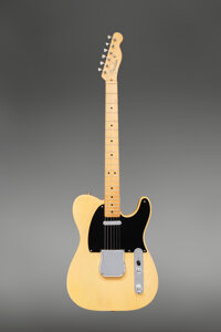 1951 Fender No-Caster Butterscotch Blonde Solid Body Electric Guitar, Serial #1674