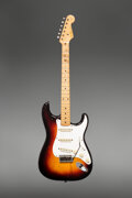 Musical Instruments:Electric Guitars, 1958 Fender Stratocaster Sunburst Solid Body Electric Guitar, Serial #024582.. ...