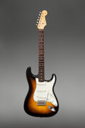 Musical Instruments:Electric Guitars, 1960 Fender Stratocaster Sunburst Solid Body Electric Guitar, Serial #51257.. ...