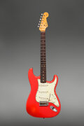 Musical Instruments:Electric Guitars, 1964 Fender Stratocaster Fiesta Red Solid Body Electric Guitar, Serial #L35103.. ...