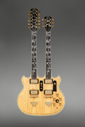 Musical Instruments:Electric Guitars, Ibanez 2670 Double Neck Model Natural Solid Body Electric Guitar, Serial #B07004.. ...