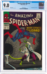 The Amazing Spider-Man #44 (Marvel, 1967) CGC VF/NM 9.0 Off-white to white pages