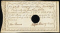 Colonial Notes:Connecticut, Connecticut Interest Certificate £2 March 13, 1790 Anderson CT-53 Extremely Fine, HOC.. ...