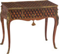 Furniture, A Louis XVI-Style Parquetry Decorated Poudreuse. 29 x 34 x 19-1/2 inches (73.7 x 86.4 x 49.5 cm). ...