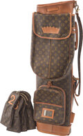 Collectible, A Louis Vuitton Monogram Canvas and Leather Golf Bag. 33 x 12-1/2 x 7-1/2 inches (83.8 x 31.8 x 19.1 cm). ...