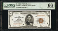 Low Serial Number 7580 Fr. 1850-A $5 1929 Federal Reserve Bank Note. PMG Gem Uncirculated 66 EPQ