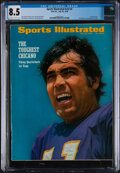 Football Collectibles:Publications, 1970 Joe Kapp Sports Illustrated Cover, CGC 8.5 Pop 1 With None Higher!...