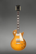 Musical Instruments:Electric Guitars, 1959 Gibson Les Paul Standard Sunburst Solid Body Electric Guitar, Serial #9 0696.. ...