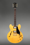 Musical Instruments:Electric Guitars, 1958 Gibson ES-335 Natural Semi-Hollow Body Electric Guitar, Serial #A28114.. ...
