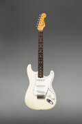 Musical Instruments:Electric Guitars, 1965 Fender Stratocaster Olympic White Solid Body Electric Guitar, Serial #L46965.. ...
