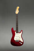 Musical Instruments:Electric Guitars, 1964 Fender Stratocaster Candy Apple Red Solid Body Electric Guitar, Serial #33237.. ...