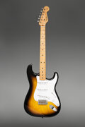Musical Instruments:Electric Guitars, 1955 Fender Stratocaster Sunburst Solid Body Electric Guitar, Serial #8424.. ...