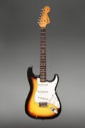 Musical Instruments:Electric Guitars, 1967 Fender Stratocaster Sunburst Solid Body Electric Guitar, Serial #204879.. ...