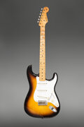 Musical Instruments:Electric Guitars, 1958 Fender Stratocaster Sunburst Solid Body Electric Guitar, Serial #025335.. ...