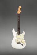 Musical Instruments:Electric Guitars, 1963 Fender Stratocaster Olympic White Solid Body Electric Guitar, Serial #L07334.. ...